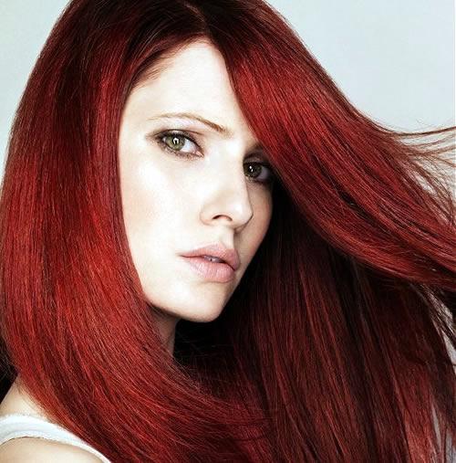 Image result for ترکیب رنگ مو مسی ماهگونی