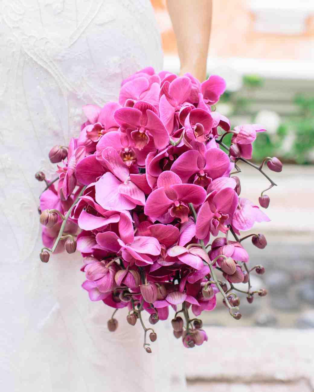 دسته گل عروس ارکیده بنفش