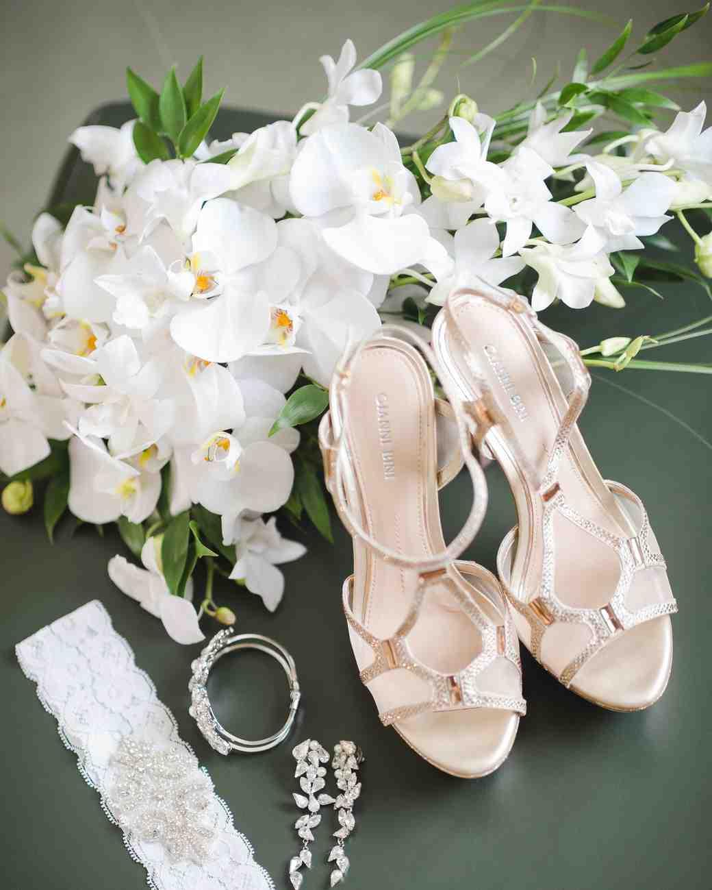 ست دسته گل عروس ارکیده با کفش