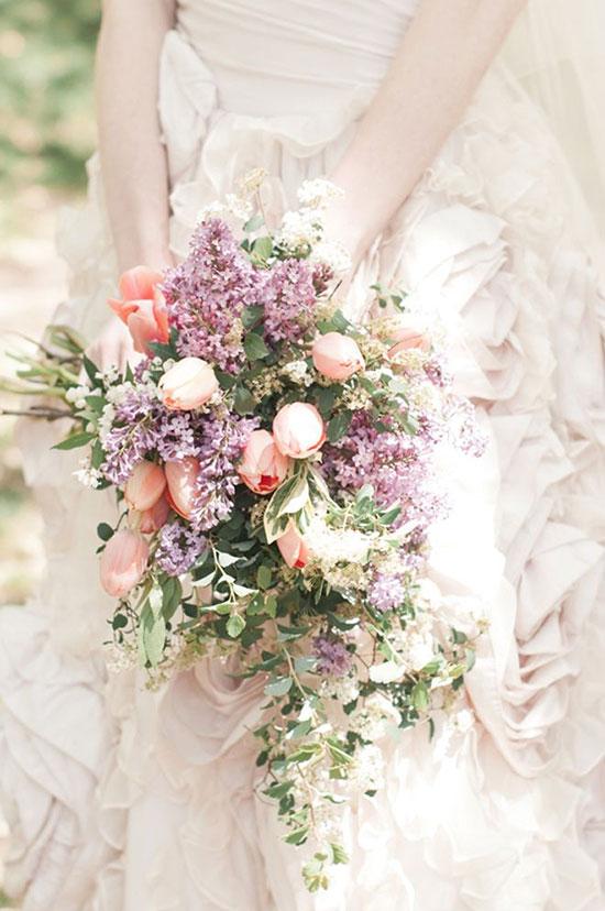 تصاویر مدل دسته گل عروس لاله