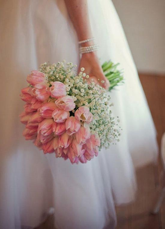 عکس دسته گل عروس لاله