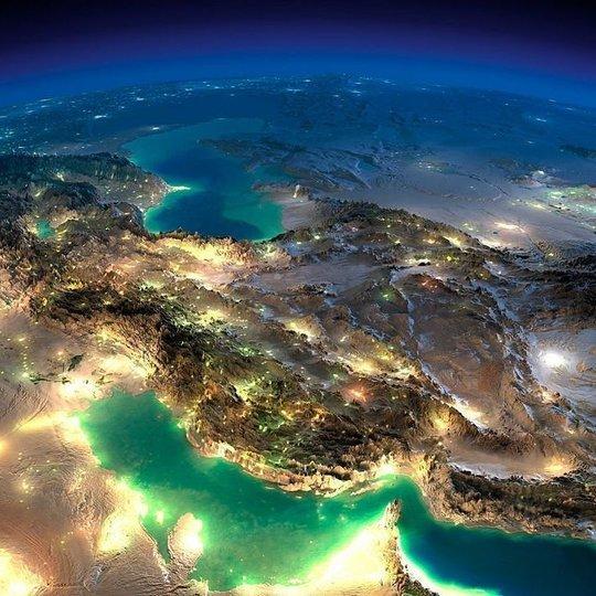 عکس ماهواره ای خلیج فارس