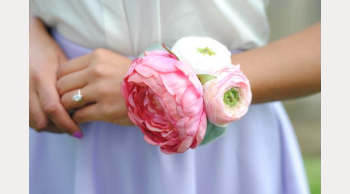 عکس دسته گل دور مچ عروس