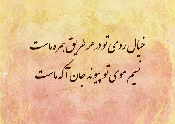 اشعار عاشقانه دیوان حافظ : خیال روی تو در هر طریق همره ماست