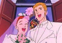 عکس عروسی جودی ابوت و بابا لنگ دراز