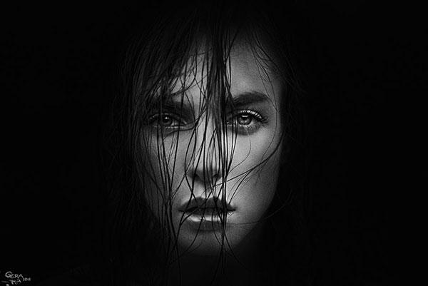 تصاویر هنری سیاه و سفید از چهره