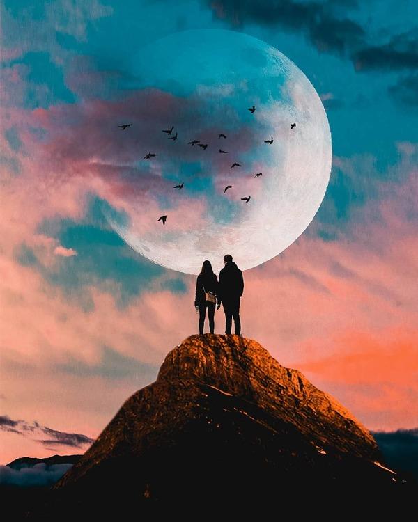 عکس رمانتیک مفهومی برای پروفایل دخترانه و پسرانه