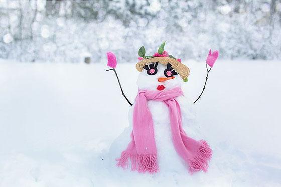 عکس آدم برفی عروسکی دخترانه برای پروفایل