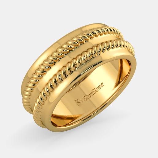 مدل انگشتر طلا بدون نگین زنانه