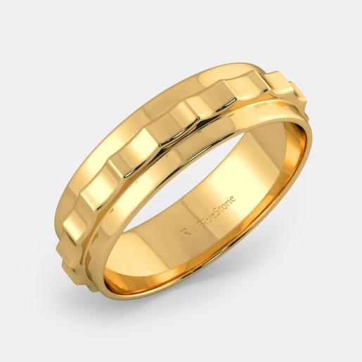 مدل انگشتر طلا زرد بدون نگین ساده و شیک