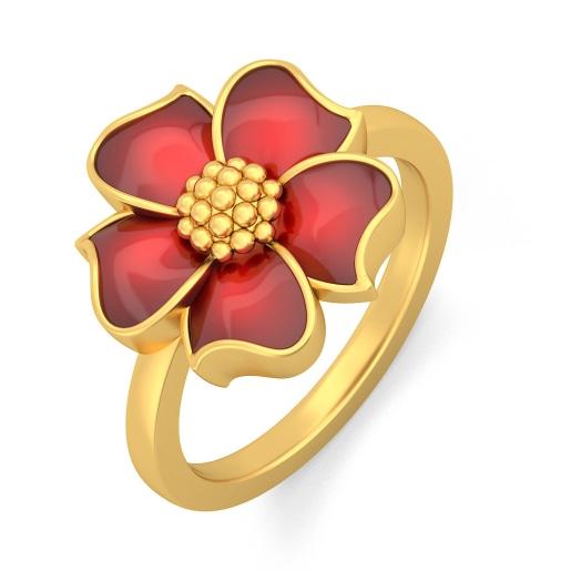 مدل انگشتر طلا با طرح گل سرخ