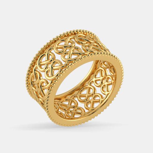 مدل انگشتر طلا بدون نگین دخترانه توری