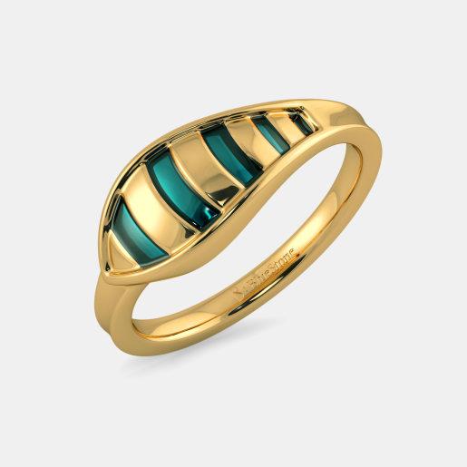 عکس انگشتر طلا زرد بدون نگین زنانه
