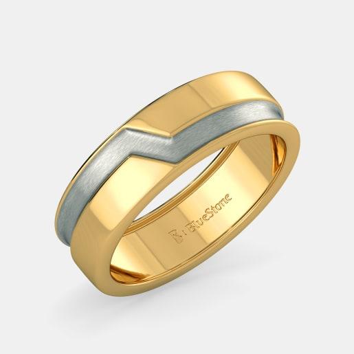 مدل انگشتر طلا سفید و زرد بدون نگین