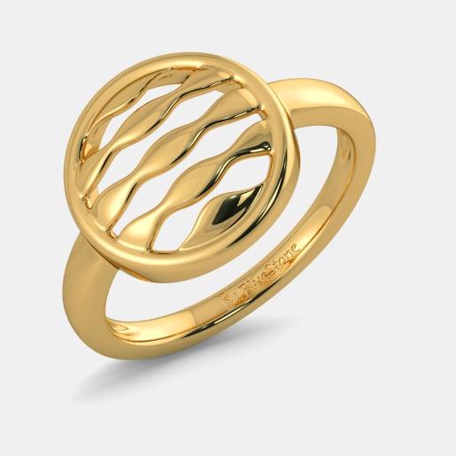 تصویر انگشتر طلا بدون نگین دخترانه