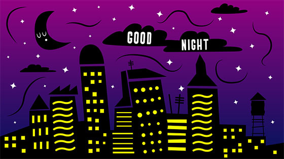 عکس پروفایل ماه و ستاره با متن شب بخیر