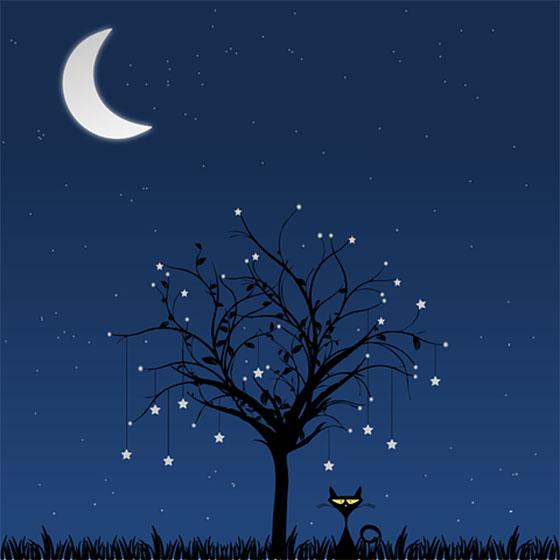 عکس ماه و ستاره برای پروفایل