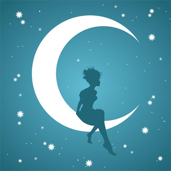 عکس ماه و ستاره کارتونی در شب