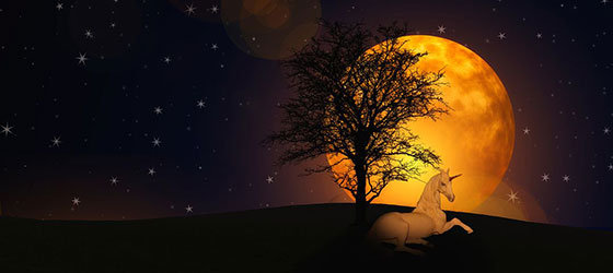 تصاویر ماه در آسمان پر ستاره