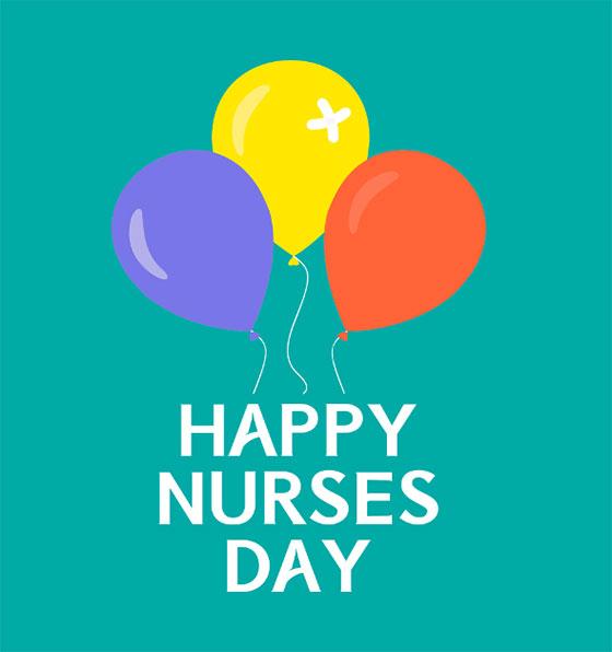 عکس نوشته انگلیسی روز پرستار مبارک