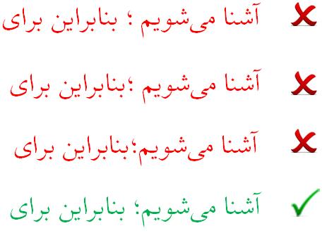 کاربرد نقطه ویرگول در نوشتار فارسی