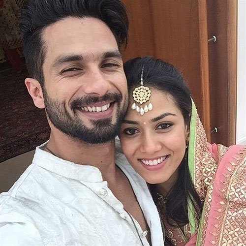 شاهد کاپور و همسرش میرا راجپوت