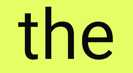 کاربرد و گرامر حرف تعریف the در زبان انگلیسی