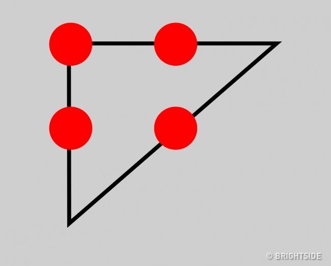 وصل کردن چهار نقطه با سه خط