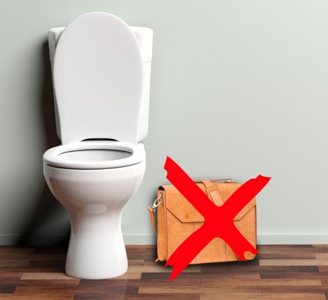 وسایل خود را کف دستشویی نگذارید