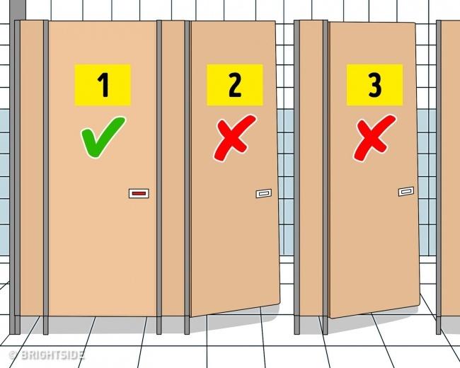 تمیز ترین توالت را انتخاب کنید