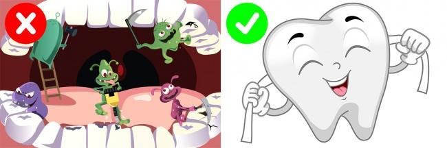 فراموش کردن نخ دندان کشیدن