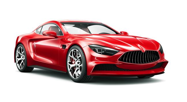 ماشین قرمز رنگ