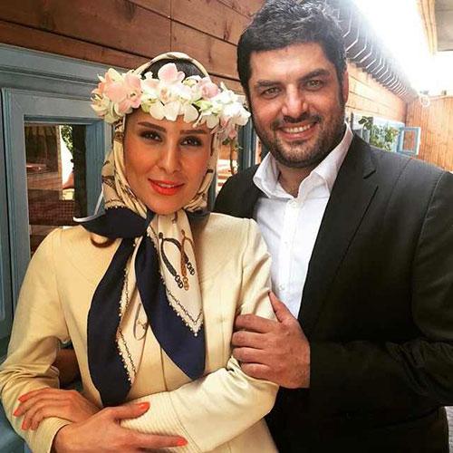 عکس عروسی سام درخشانی و همسرش عسل امیرپور