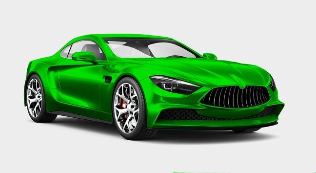 ماشین سبز رنگ