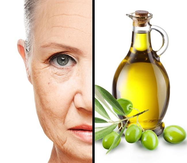 درمان چروک دور چشم و صورت : ماسک روغن زیتون