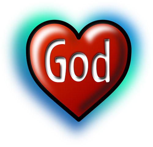 عکس اسم خدا به انگلیسی در قلب