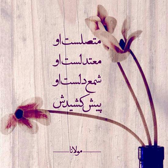 عکس نوشته غزل مولانا