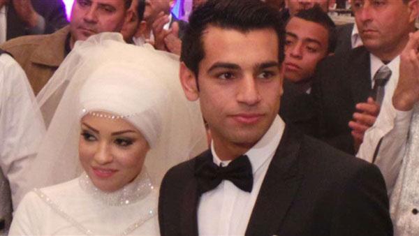 محمد صلاح و همسرش مگی