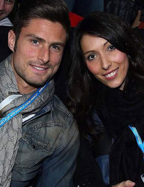 اولیویه ژیرو و همسرش جنیفر