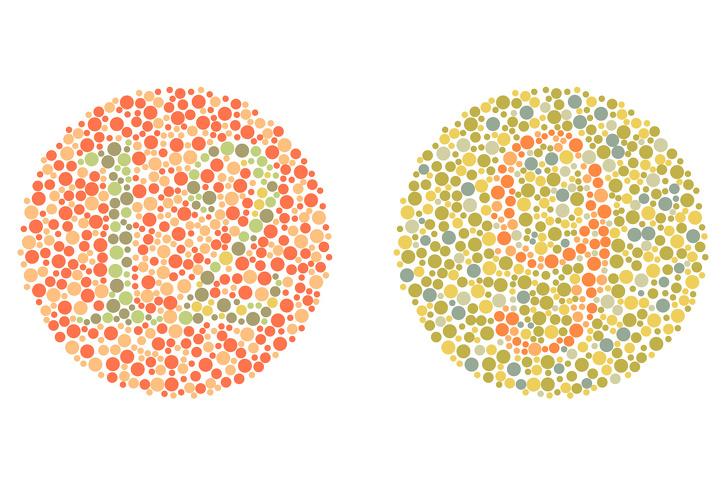 تست کوررنگی اعداد : چه اعدادی را در این تصویر می بییند؟
