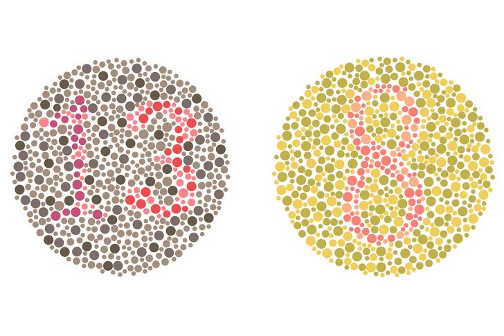 تست تشخیص کوررنگی ایشی هارا : چه اعدادی را در این تصویر می بییند؟