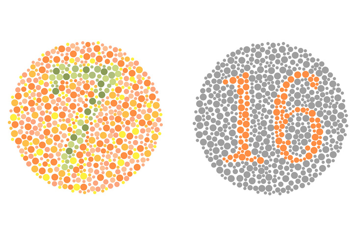 تست کوررنگی ایشی هارا : چه اعدادی در این تصویر می بینید؟