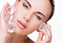 فواید یخ برای پوست و مو