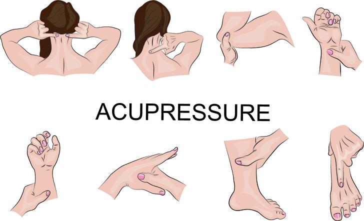 درمان سریع میگرن در منزل : درمان فشاری