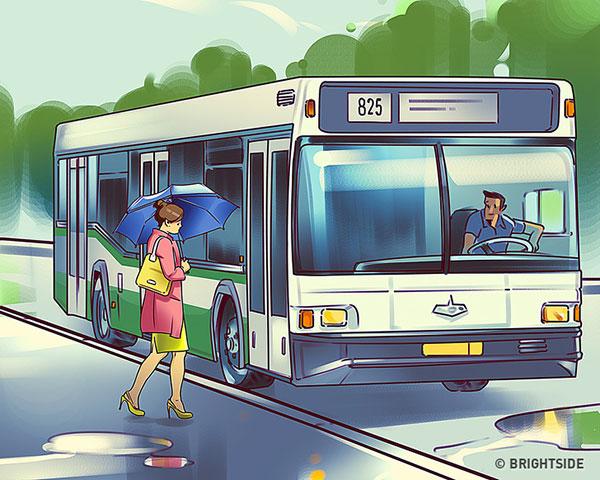 تست توجه : ایستگاه اتوبوس