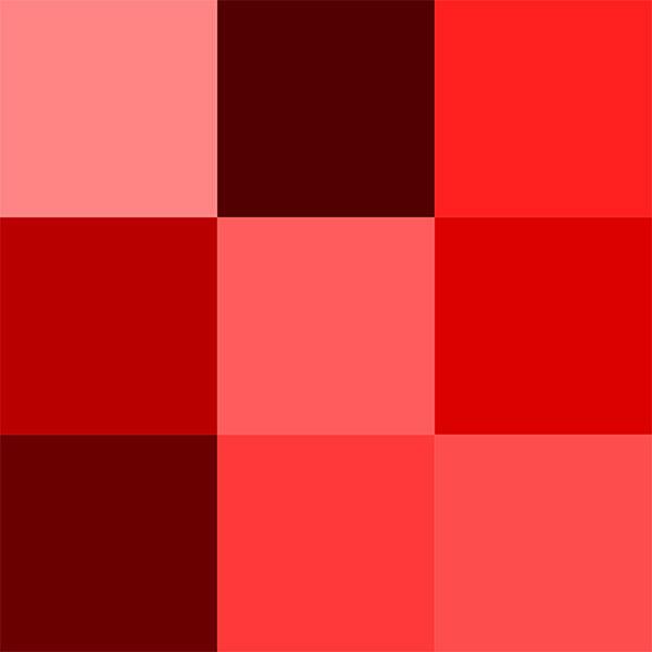 انواع طیف های رنگ قرمز
