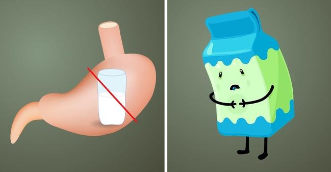عدم تحمل لاکتوز - بوی شیر ترش شده