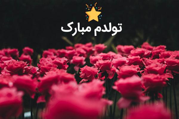 عکس نوشته تولدم مبارک برای پروفایل