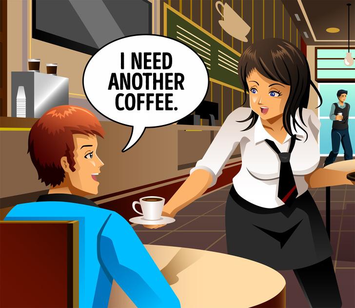 مگس در قهوه