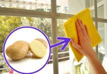 کاربرد سیب زمینی در پاک کردن شیشه